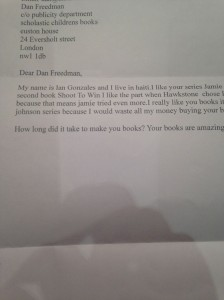 fanmail from Haiti