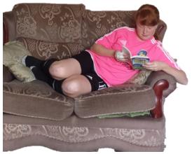"Megan reading ""Born To Play"""